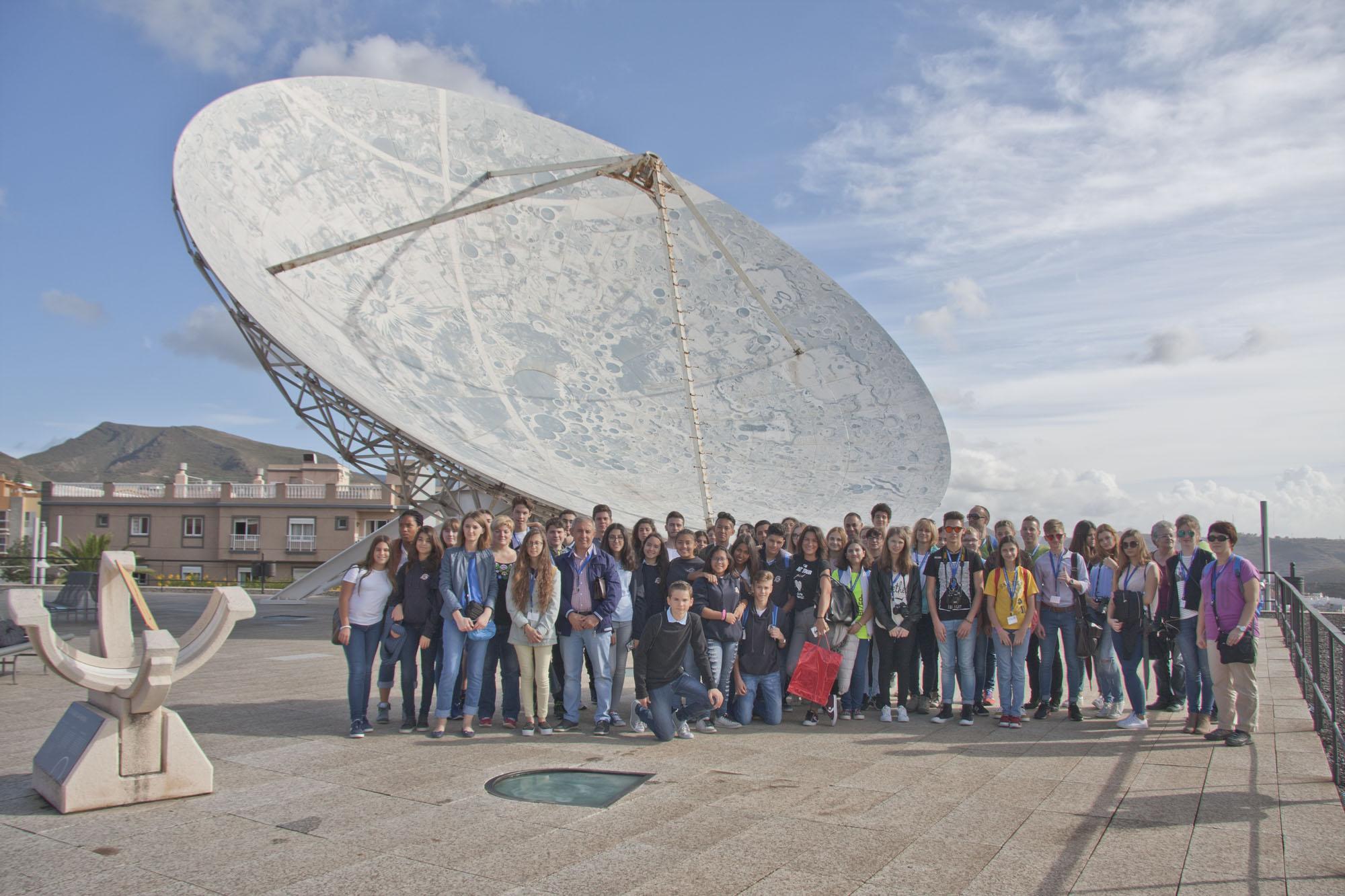 """Visita de los participantes del proyecto Erasmus+ """"Reach the Sky"""" a las instalaciones del IAC y el MCC de Museos de Tenerife. Crédito: IAC"""