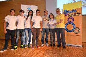 Ganadores del IES Lucas Martin Espino, crédito: Ciencia en Acción