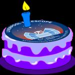Impresión artística de una tarta de cumpleaños adaptada por J. Marchant (LJMU) a partir de un dibujo publicado bajo Creative Commons CC0 en Pixabay.