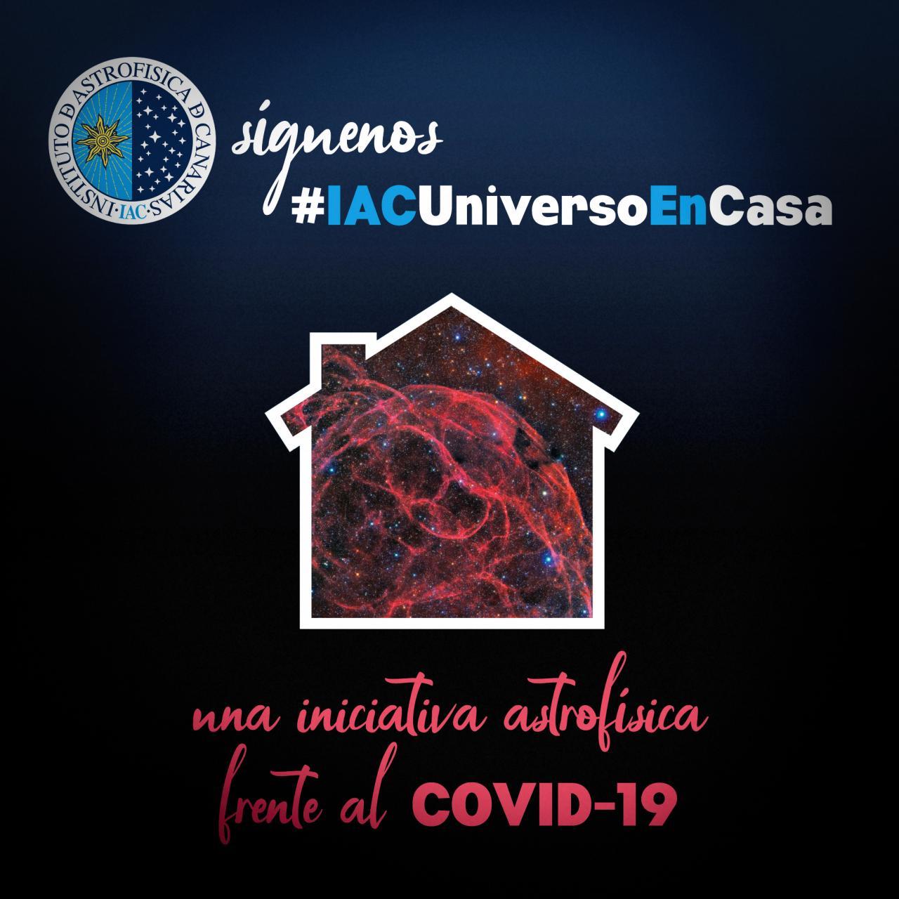 Imagen para anunciar la campaña #IACUniversoEnCasa
