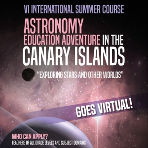 "Cartel del ""Astronomy Education Adventure in the Canary Islands"" 2020"