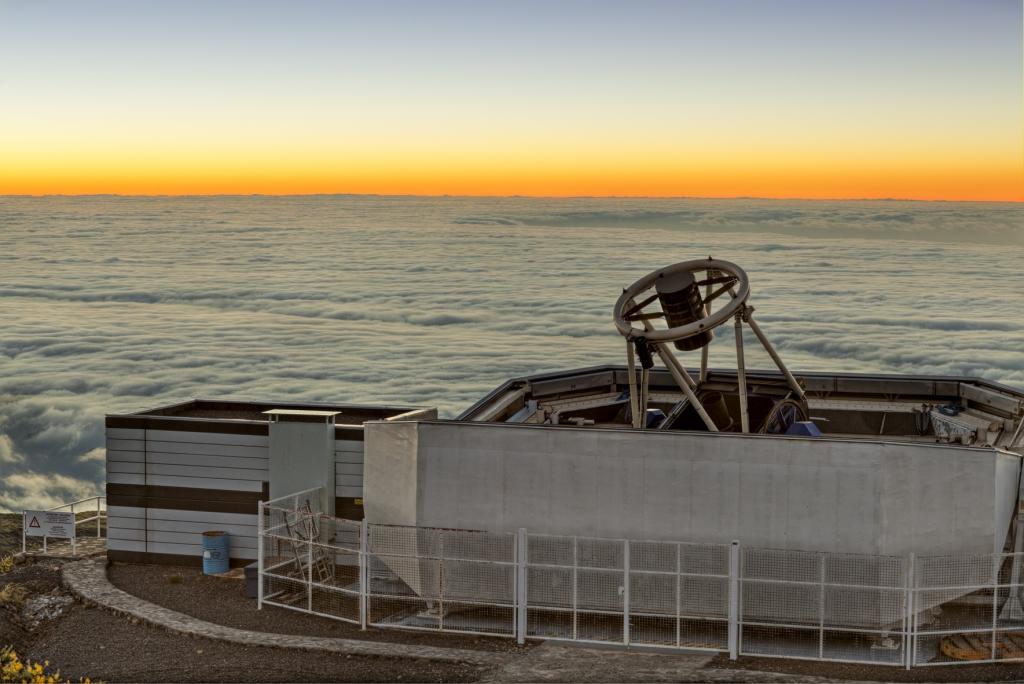 Liverpool Telescope. Créditos: Pablo Bonet, IAC
