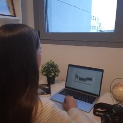 """Proyecto de investigación """"Un viaje por el cielo nocturno. Estudio de los exoplanetas (GJ 1214 b)"""" realizado por la estudiante de 2º de Bachillerato Sofía González Blázquez (IES El Burgo). Crédito: Sofía González"""