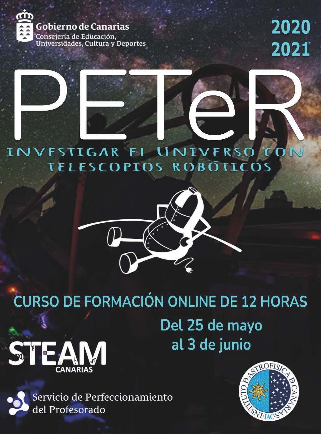 Cartel del curso online PETeR 2021